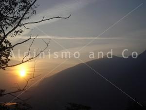 Falesia di galbiate - stupendo tramonto