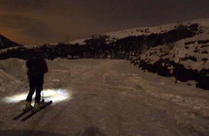 Cima di Grem in notturna - Scialpinismo