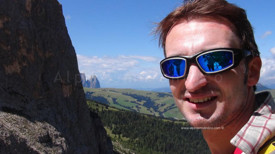 Sullo sfondo l'Alpe di Siusi